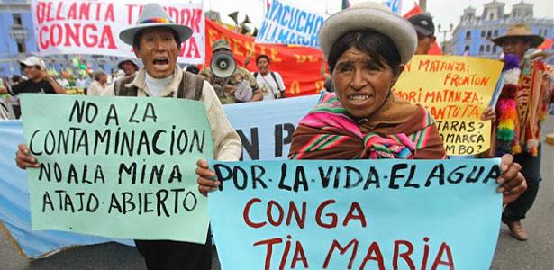 Pérou: Manifestation Conga