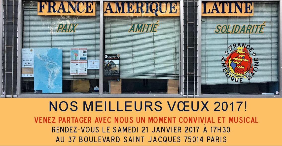 Voeux de France Amérique Latine @ Siège de France Amérique Latine | Paris | Île-de-France | France