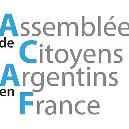 COMMUNIQUE DE PRESSE DE  L'ASSEMBLÉE DE CITOYENS ARGENTINS EN FRANCE (ACAF)