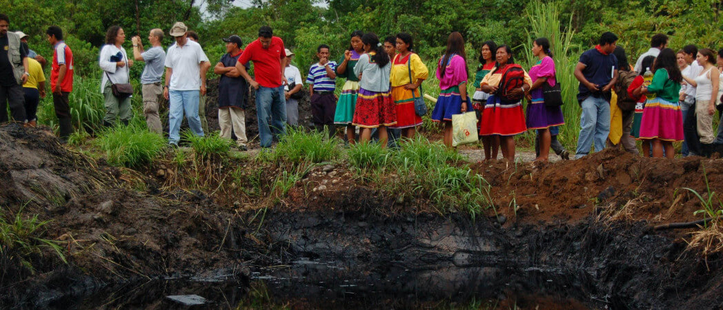 Le combat sans fin des victimes de l'or noir d'Amazonie (Éric Serres/L'Humanité)