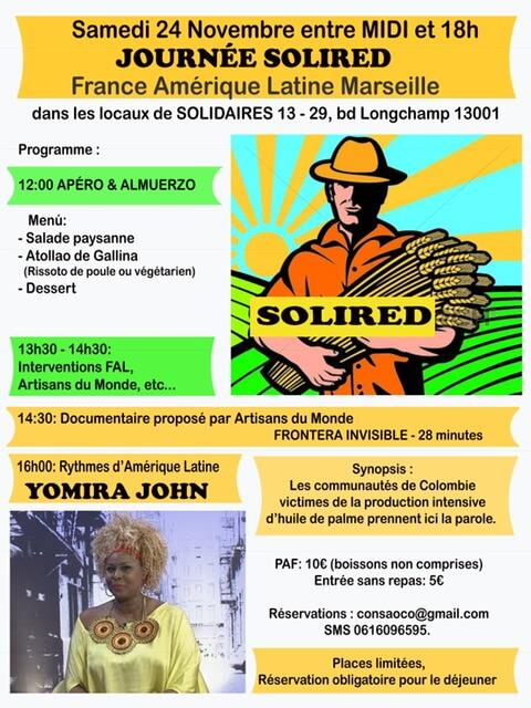 Marseille samedi 24 novembre: journée de solidarité avec les paysans de la vallée du Cauca en Colombie