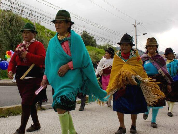 La marche pour l'Eau, la Vie et la Dignité des Peuples en Equateur