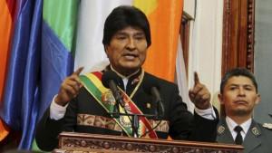 Le président bolivien Evo Morales devant le Parlement lors de son discours sur ses dix années de pouvoir. REUTERS/Bolivian Presidency/Handout via Reuters