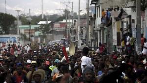 Manifestation contre le gouvernement du président Michel Martelly, le 24 janvier, à Port-au-Prince. REUTERS/Andres Martinez Casares