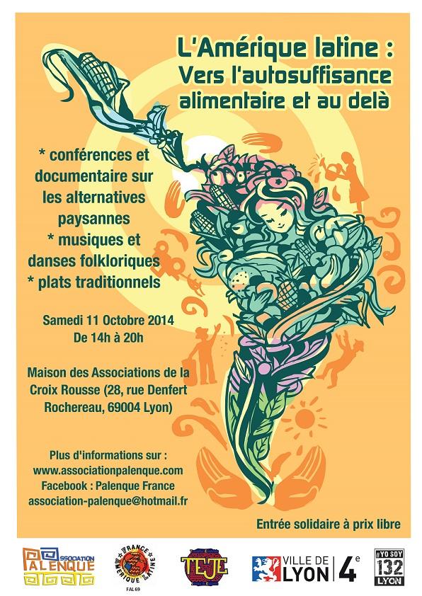 L'association Palenque et FAL Lyon vous invitent à une journée de réflexion : L'Amérique latine : Vers l'autosuffisance alimentaire et au-delà
