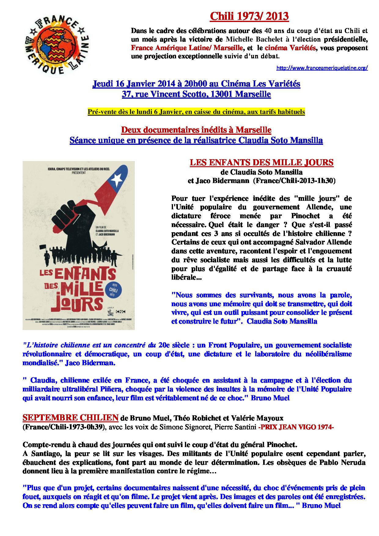 """Marseille : Projection/débat ; """"Les enfants des mille jours"""""""