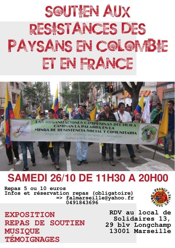 Solidarité avec les paysans colombiens.