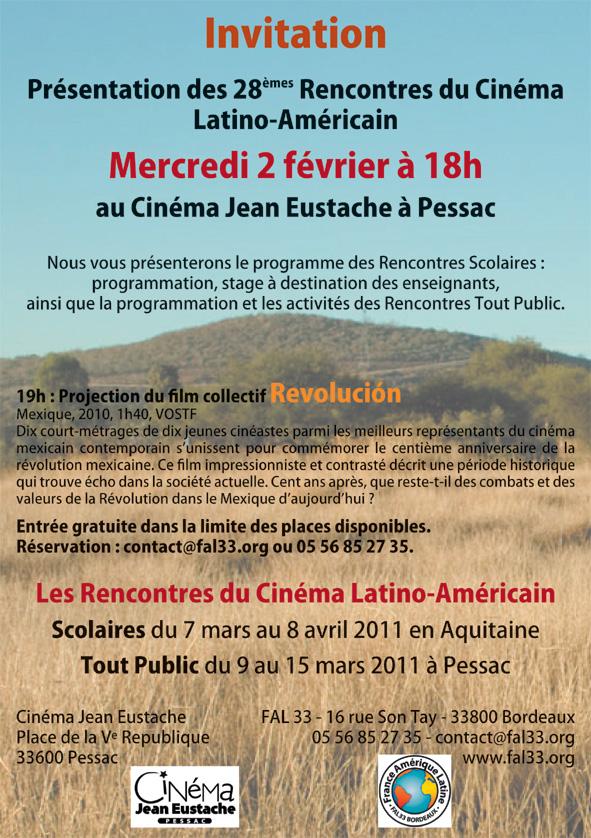 Les rencontres du cinéma latino-américain en Aquitaine