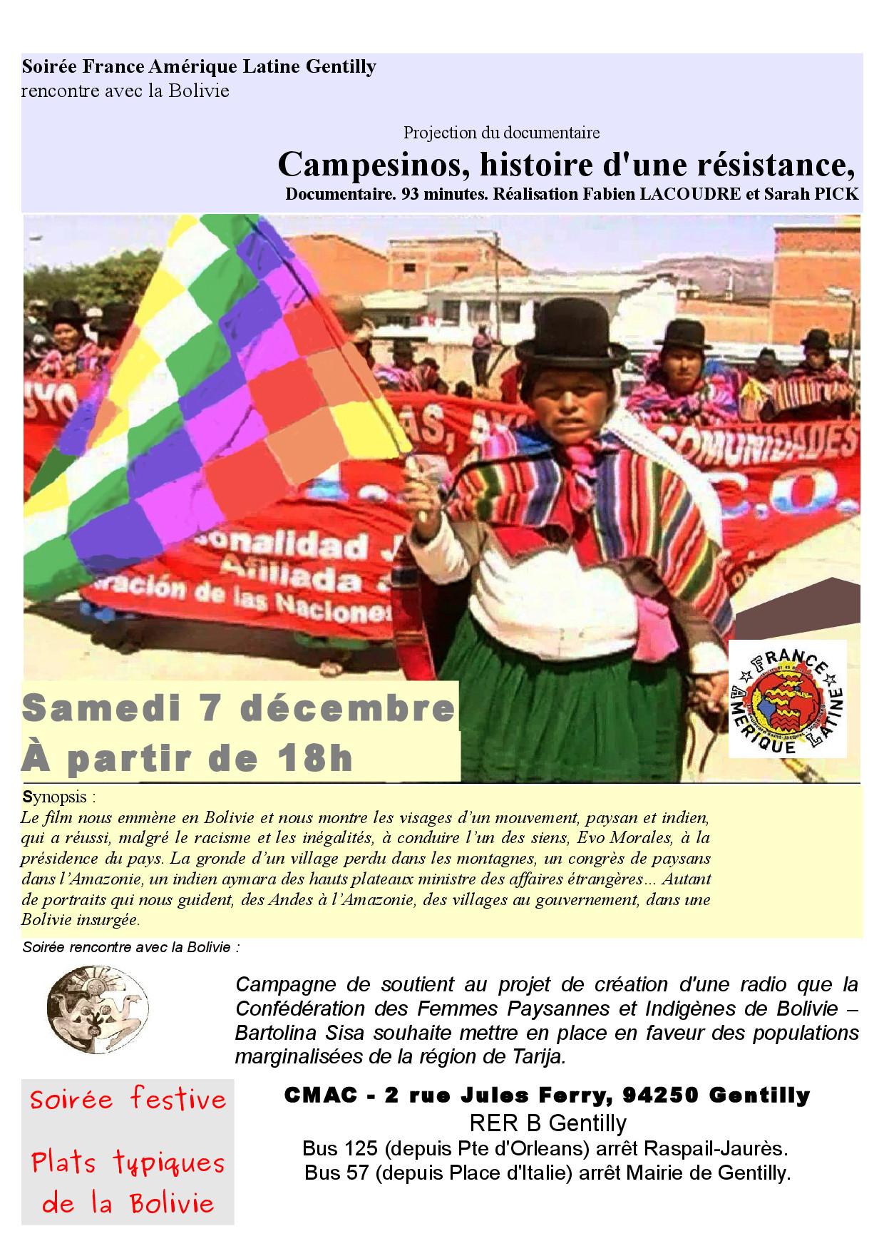 Projection : campesinos, histoire d'une résistance.
