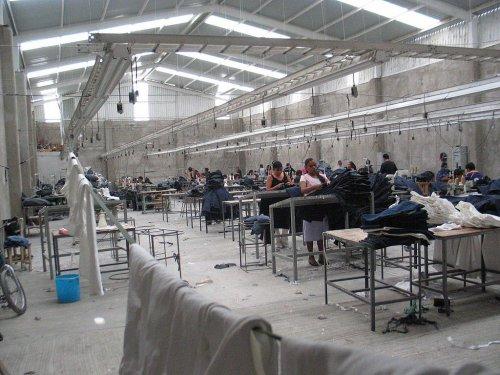 Une maquiladora, ces ateliers bénéficiant de l'accord de libre échange Alena signé entre les Etats-Unis, le Canada et le Mexique, en 1994.