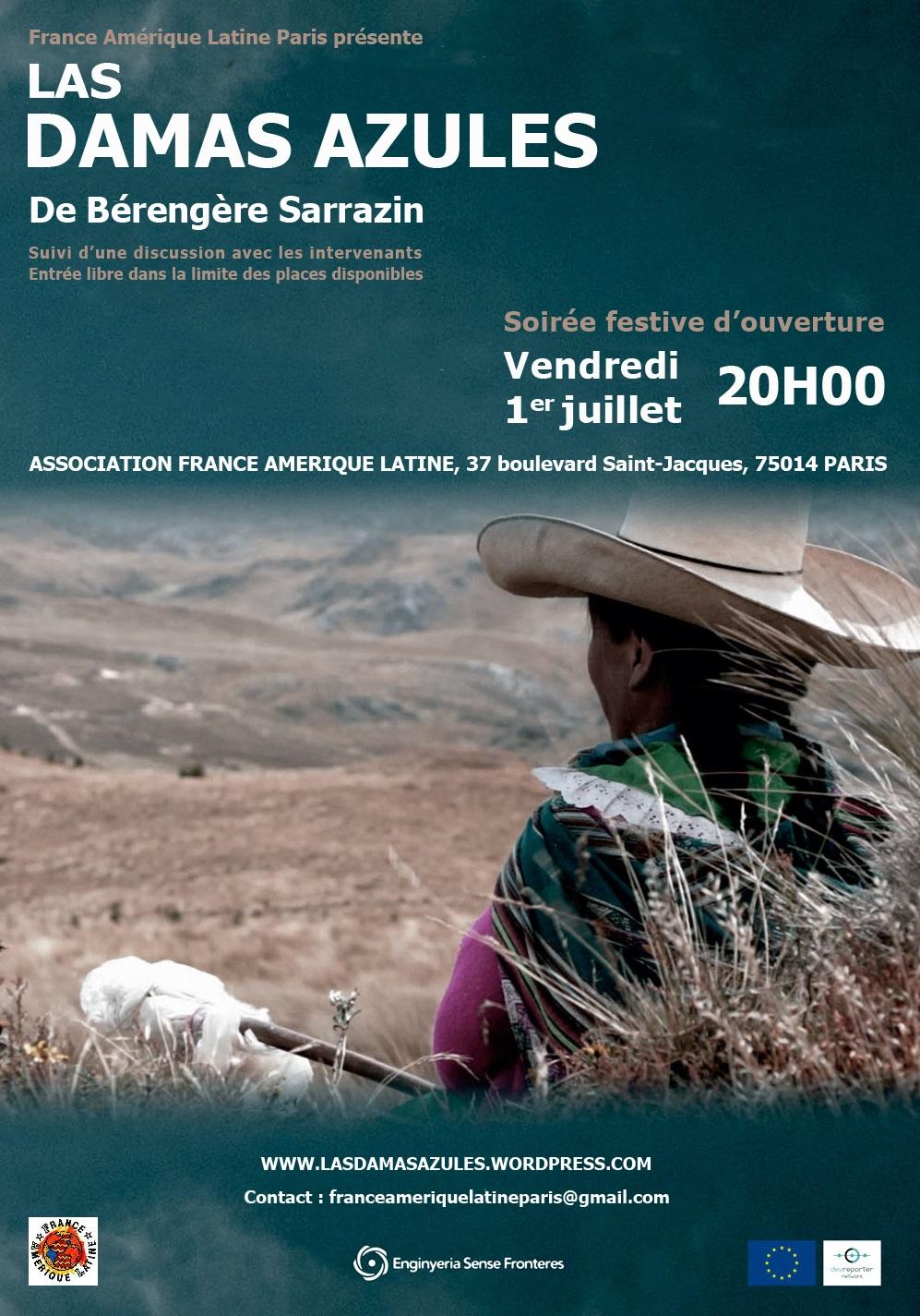 """Projection """"Las Damas Azules"""" le 1er juillet avec le comité de Paris !"""