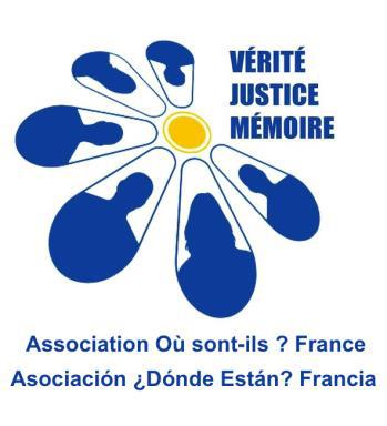 Comunicado de la Asociación ¿Dónde Están?- Francia