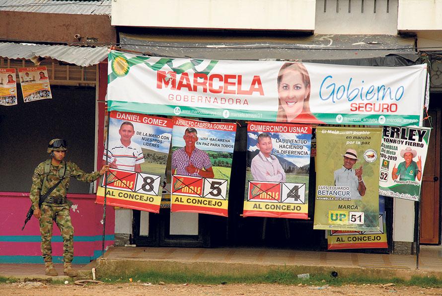 A La Macarena (Meta), octobre 2015