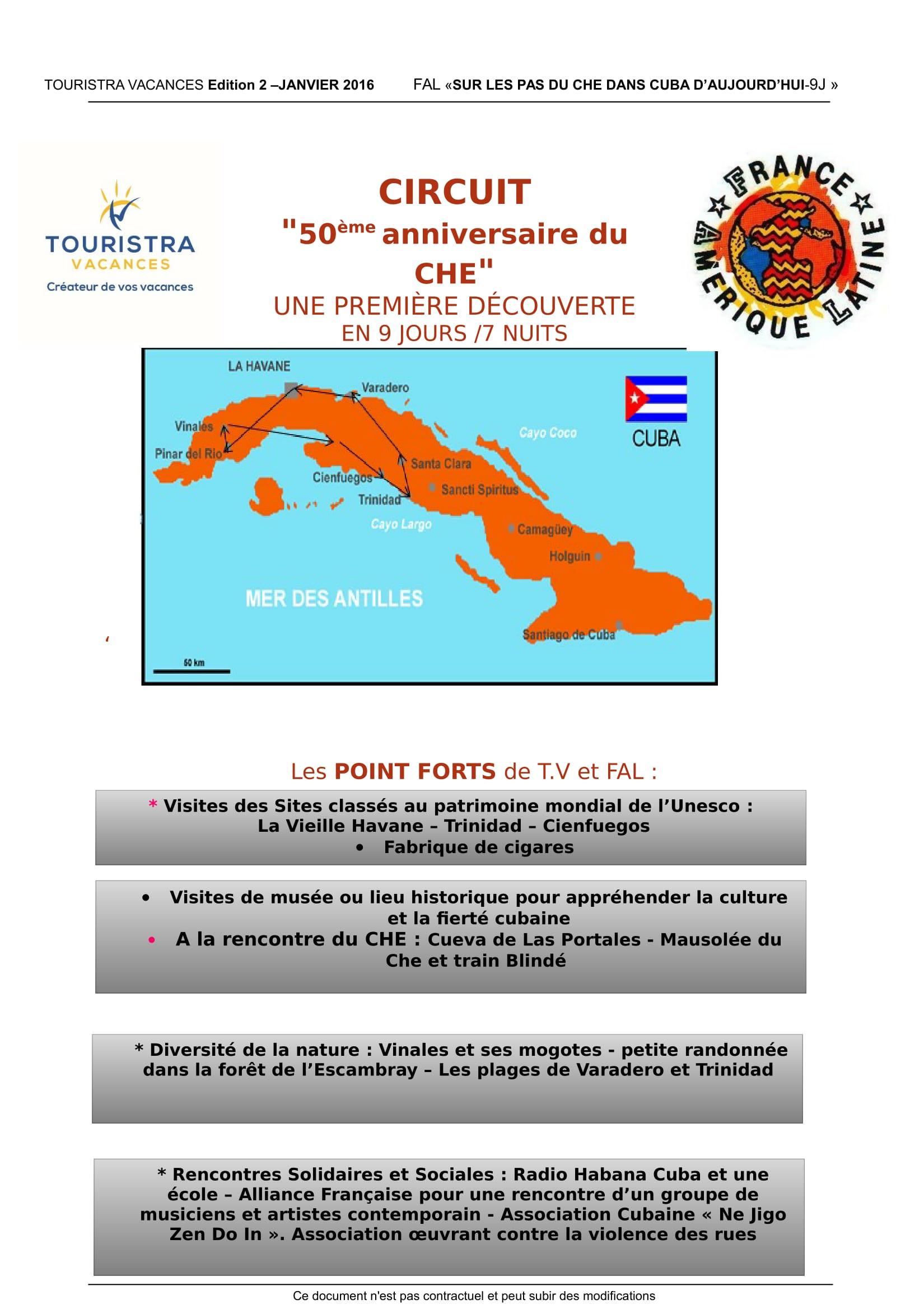 """Les Voyages de FAL : Cuba """"50eme anniversaire du Che"""""""
