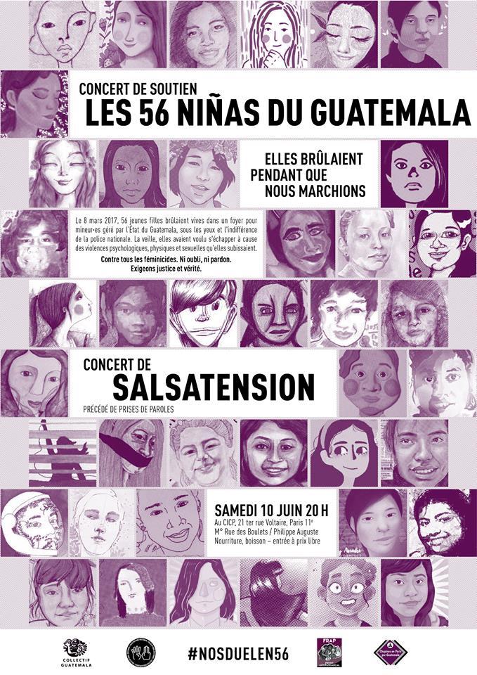 Concert de soutien: Les 56 ninãs du Guatemala – Elles brûlaient pendant que nous marchions