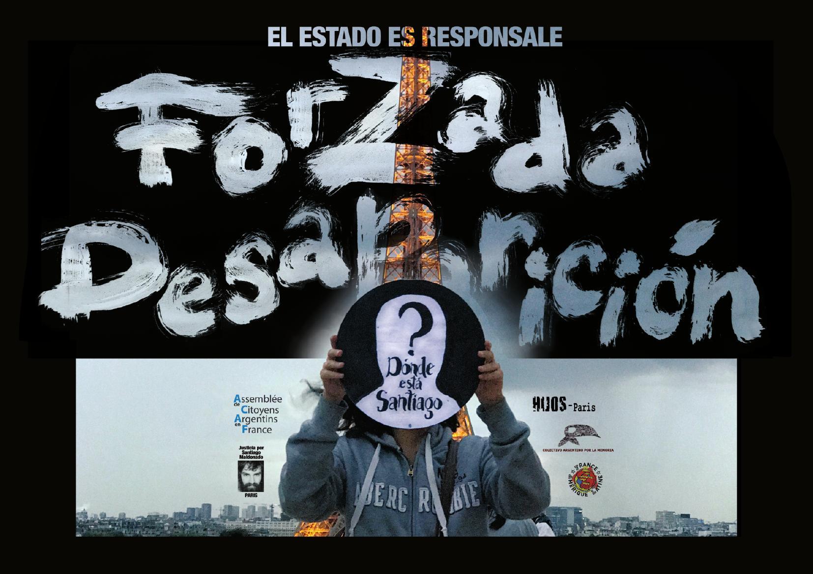 Mort de Santiago Maldonado: l'État est responsable (communiqué)