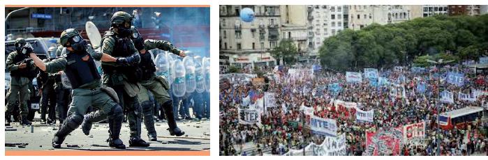 Communiqué : Répression inédite devant le Congrès à Buenos Aires