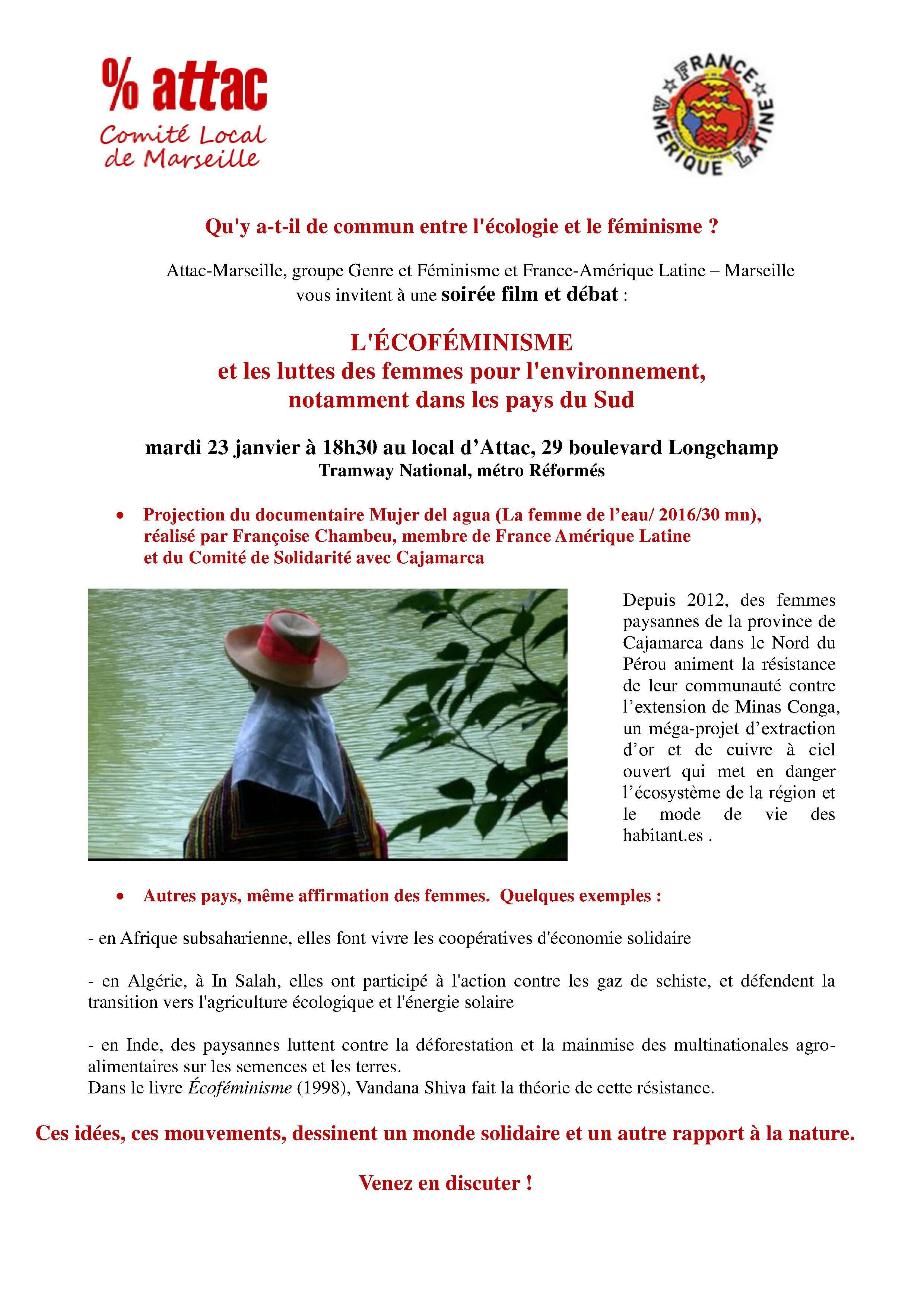 Projection-débat: L'écoféminisme et les luttes des femmes pour l'environnement (Attac Marseille/FAL Marseille)