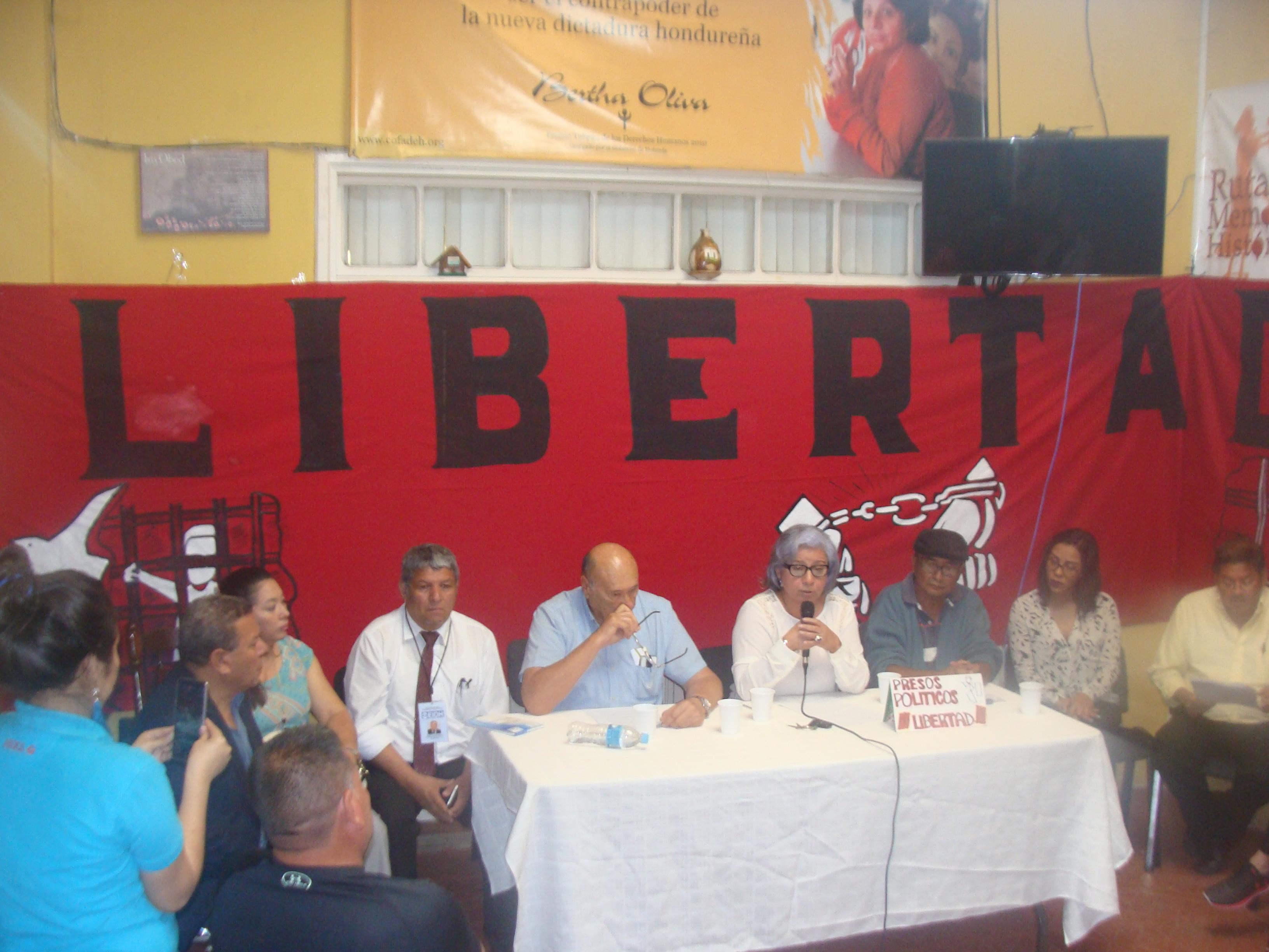 Positionnement du Comité Pour La Libération Des Prisonniers Politiques au Honduras (COFADEH)
