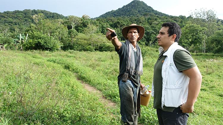 La terre, enjeu d'une paix durable en Colombie ( Jean-Claude Gerez/ CCFD)