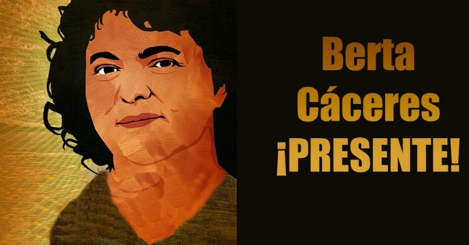 Le 2 mars : la Une pour Berta Cáceres « Humanité, réveille-toi, il est tard ! » (communiqué de France Amérique Latine, Alerte Honduras et Collectif Guatemala)