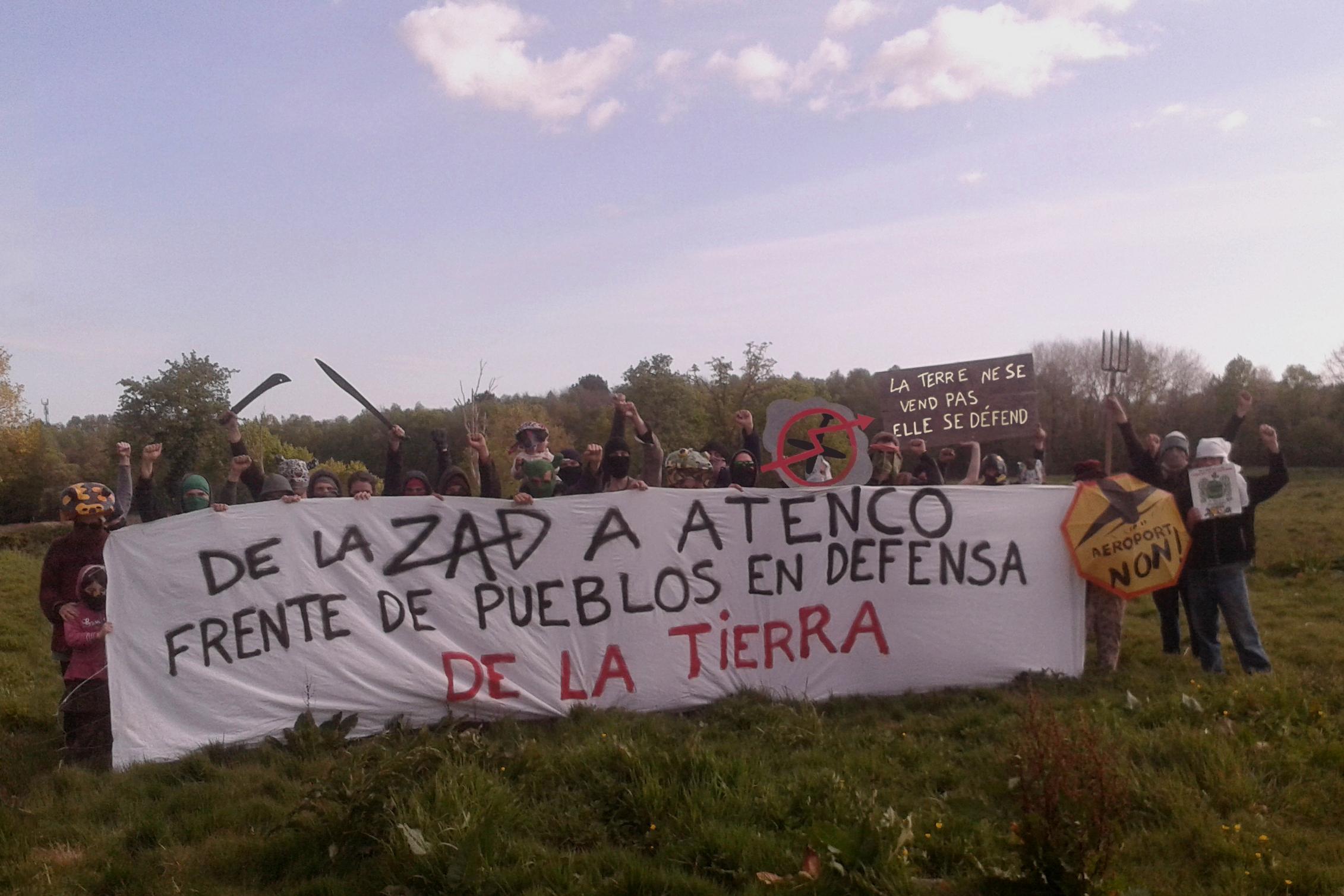 Soirée de solidarité Atenco – Notre Dame des Landes, organisée par le Collectif Paris-Ayotzinapa, vendredi 4 mai.
