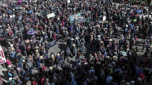 Jimmy Morales unifie le mouvement social, qui manifeste contre lui (Ángel Mazariegos Rivas/Plaza Pública/ Collectif Guatemala).