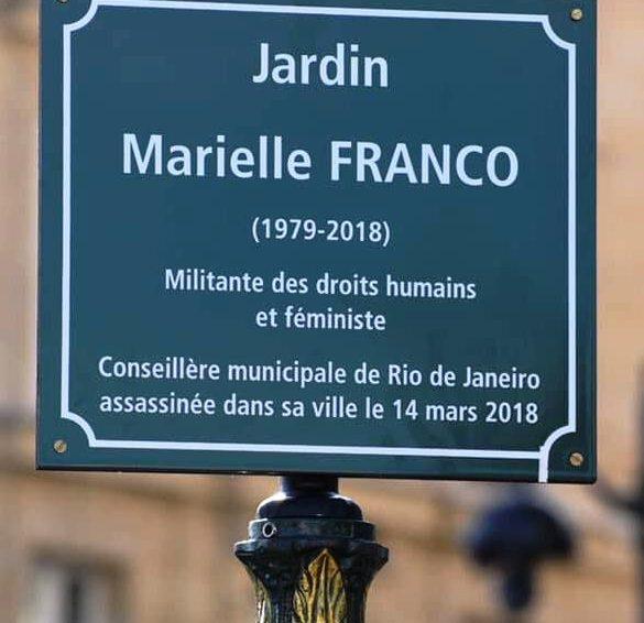 Inauguration du jardin Marielle Franco à Paris