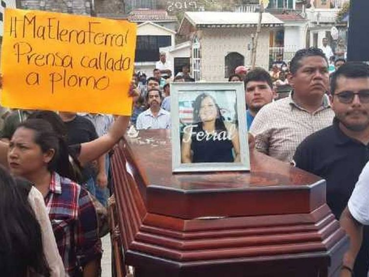 La journaliste mexicaine Maria Elena Ferral assassinée (Liliane Charrier / TV5 Monde)