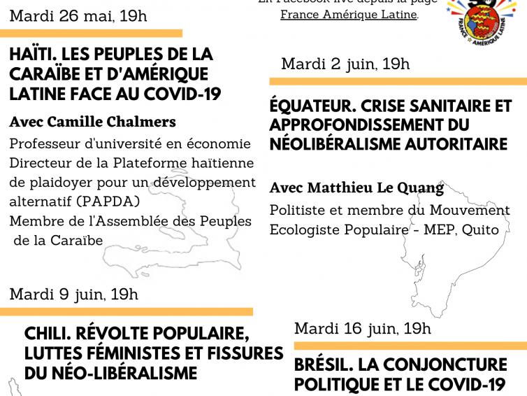 Cycle de visioconférences: Rendez-vous avec les mouvements populaires caribéo-latino-américains (26 mai – 16 juin 2020)