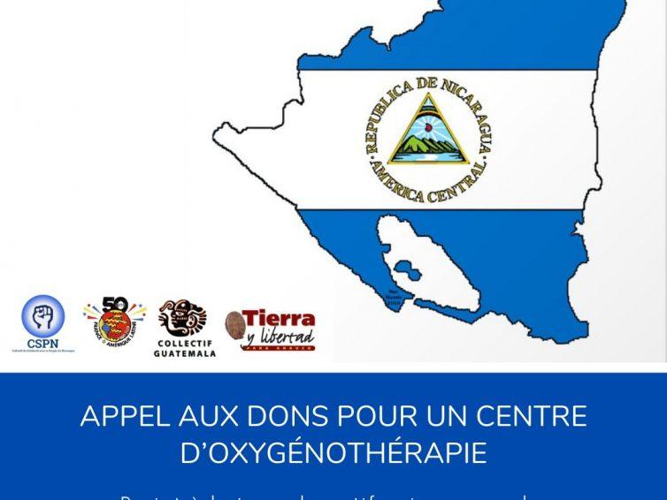 Nicaragua – Faire face à l'urgence humanitaire malgré la répression du régime :   Appel aux dons pour un centre d'oxygénothérapie