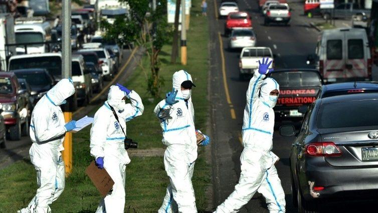 """Les """"maras"""" mettent fin à la trêve du coronavirus au Honduras et au Guatemala (AFP/ Le Point)"""