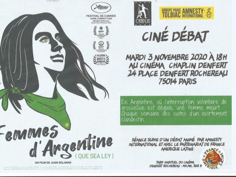 Ciné-débat : Femmes d'Argentine (Que Sea Ley) de Juan Solanas / 3 novembre 2020