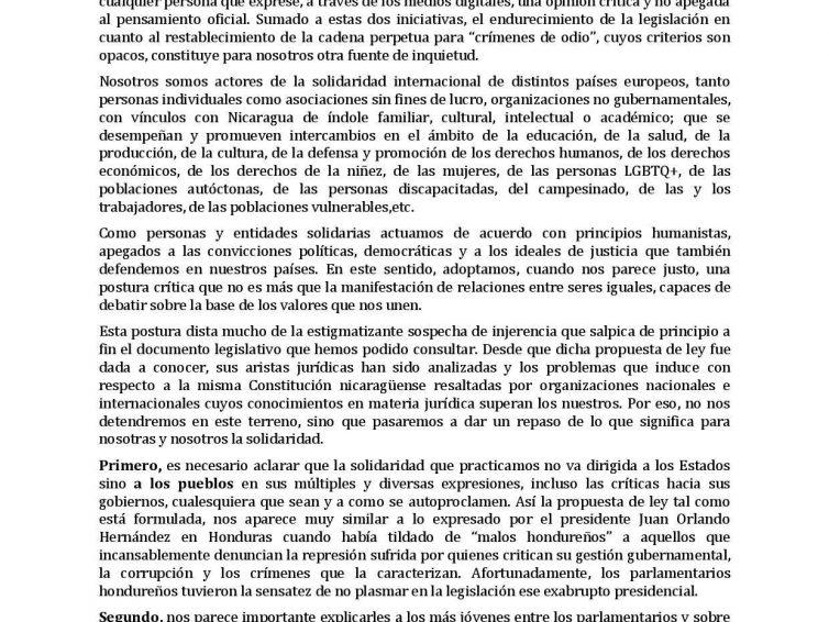 Nicaragua : déclaration concernant la loi sur la « Régulation des agents étrangers » et la loi sur la cybersécurité 2020-2025