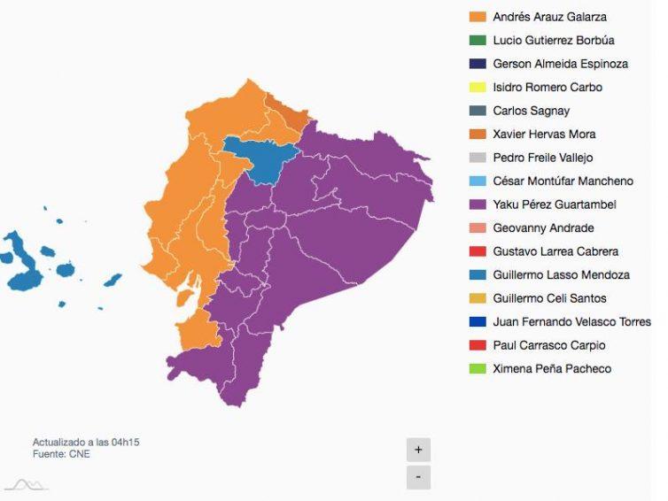 Élections présidentielles en Équateur : vers un deuxième tour le 11 avril (revue de presse)