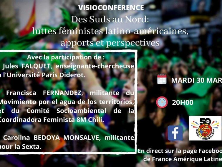 Vidéo de la visioconférence : 8M – Des Suds au Nord: luttes féministes latino-américaines, apports et perspectives