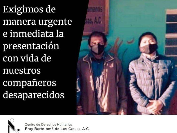 Mexique : privation arbitraire de liberté des membres du Centre de Droits Humains Fray Bartolomé de Las Casas / Frayba