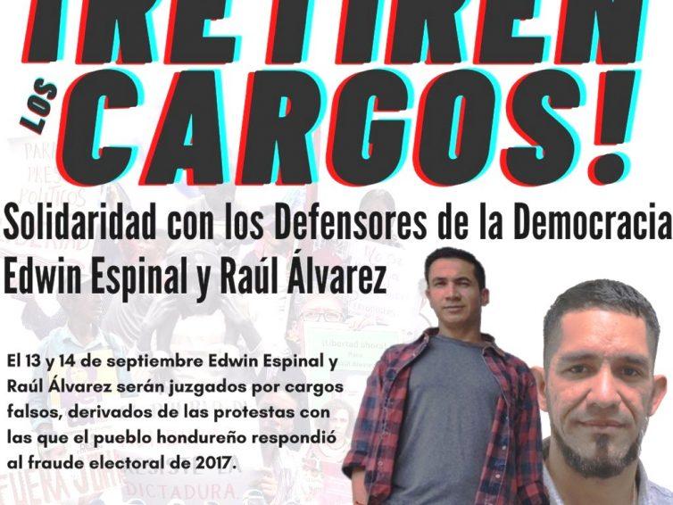 Honduras: action urgente / le procès contre Edwin Espinal et Raúl Álvarez commence le 13 septembre