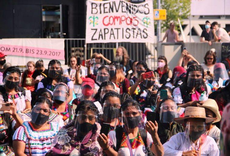 Voyage zapatiste : la délégation aérienne de l'EZLN atterrit et s'exprime à Vienne (Pozol Colectivo)/ Discours du Subcomandante Moisés (vidéo en espagnol)